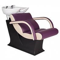 Парикмахерская пластиковая мойка ЛЕДИ с креслом ОНЕ и керамикой Гарсон