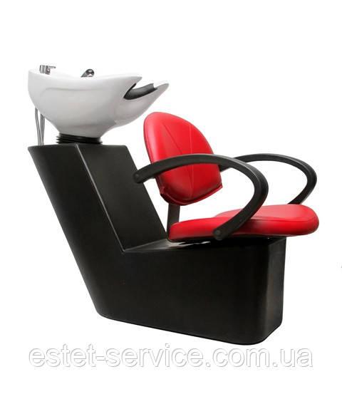 Пластиковая мойка парикмахера ПРИМА с креслом в кожзаме МОНИКА