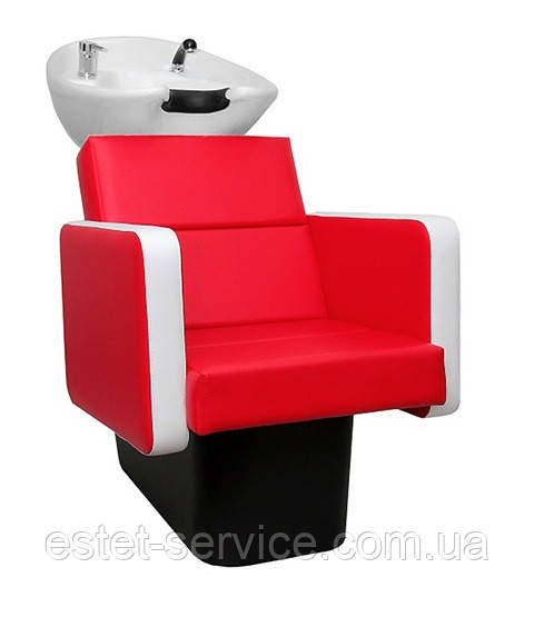 Мойка в парикмахерскую ПРИМА с креслом АРИЯ на пластиковой станине