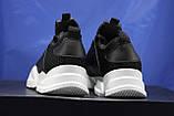 Жіночі кросівки чорні на білій підошві сітка, фото 5