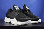 Жіночі кросівки чорні на білій підошві сітка, фото 3