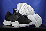 Жіночі кросівки чорні на білій підошві сітка, фото 2