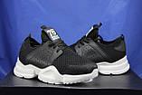 Жіночі кросівки чорні на білій підошві сітка, фото 4