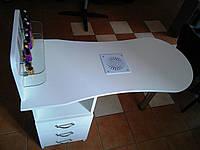 """Маникюрный стол """"Естет 1"""" со встроенной вытяжкою """"Dekart 4"""". Бесплатная доставка , фото 1"""