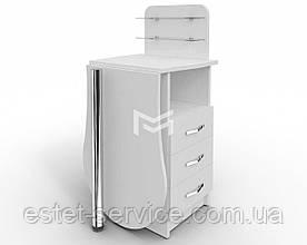 Маникюрный стол-трансформер Естет компакт №1 со складывающейся столешницей БЕЛЫЙ М101К