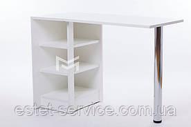 Складной маникюрный стол Економ в белом цвете