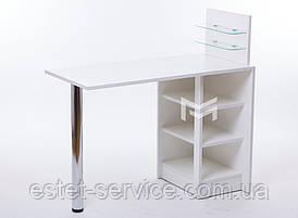 Маникюрный стол-трансформер Економ плюс с полочками