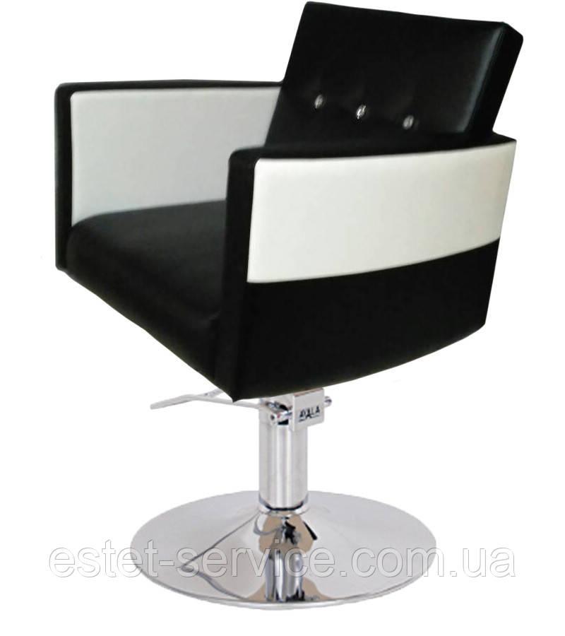 Кресло чорно-белое в салон ARIADNA AM036