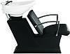 Мойка черная пластиковая ЛЕДИ с креслом КАРМЕН с белой керамикой Гарсон, фото 2