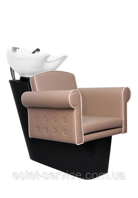 Пластиковая мойка парикмахера ПРИМА с красивым креслом БЕЛЛА