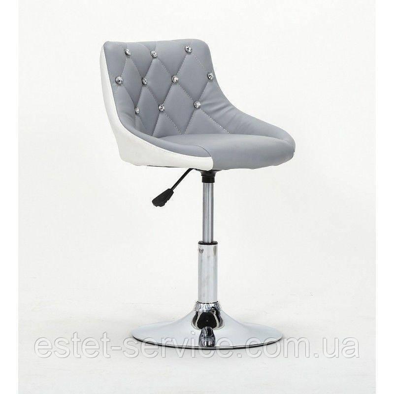 Косметическое кресло HC931N серо-белое