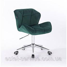 Косметическое кресло HR111K на хромированных колесах в ЦВЕТАХ велюр