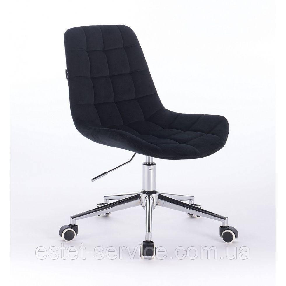 Косметическое кресло HR590K  черное велюр