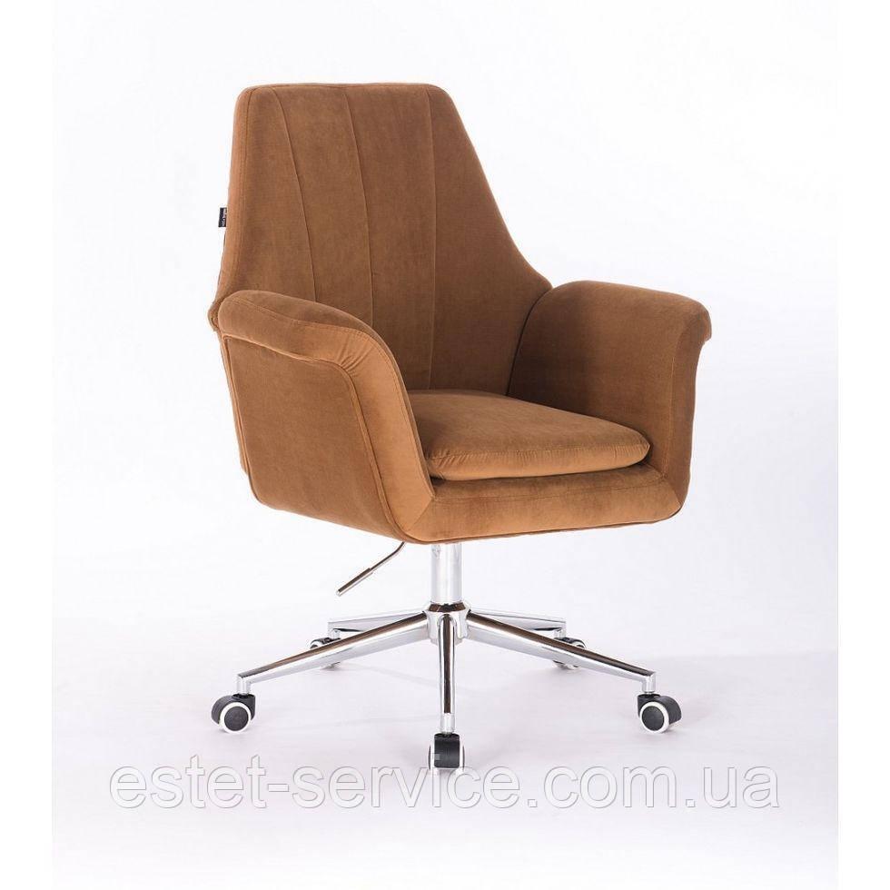 Косметическое кресло HROOVE FORM HR660K на хромированных колесах в ЦВЕТАХ велюр