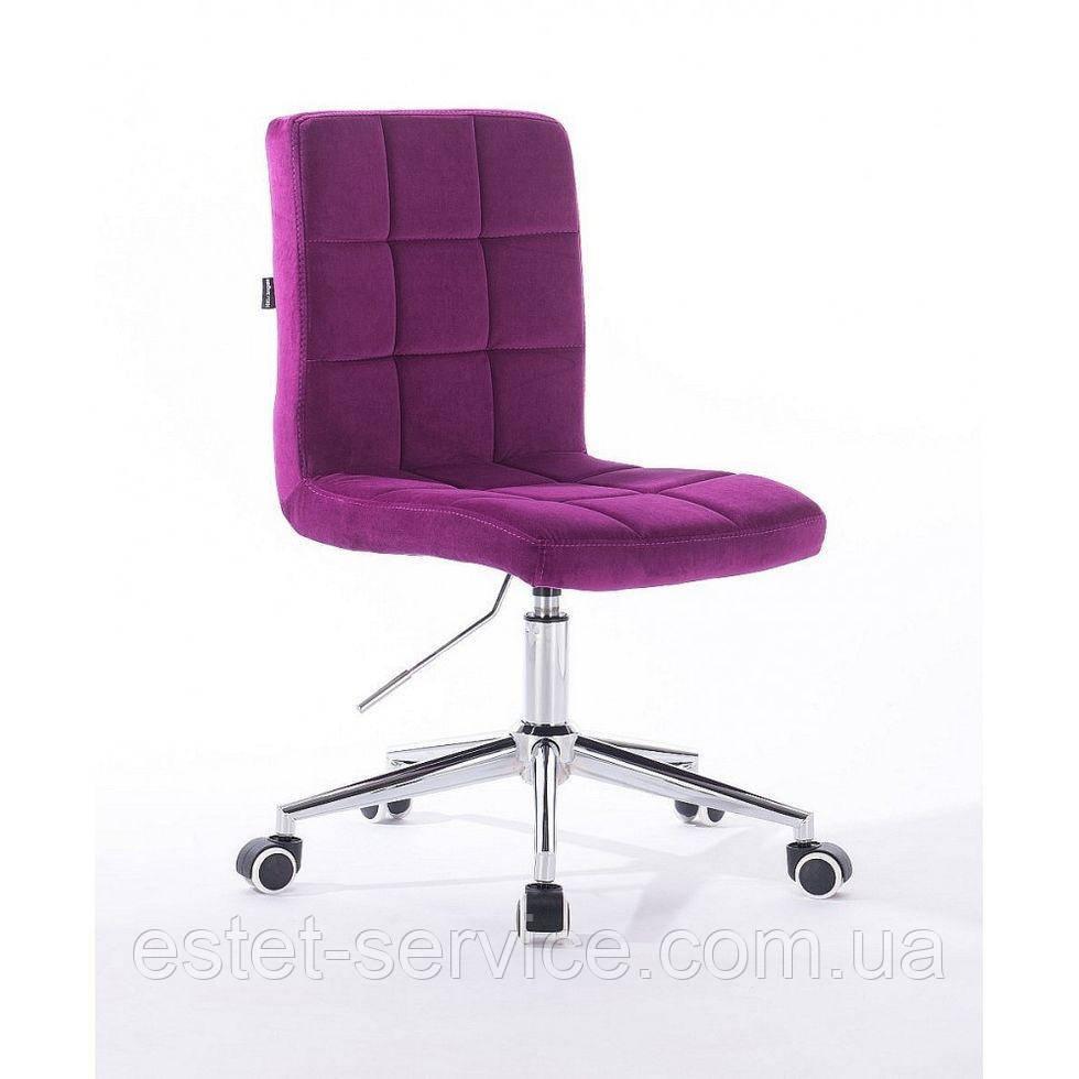 Косметическое кресло HROOVE FORM HR7009K хром фуксия велюр
