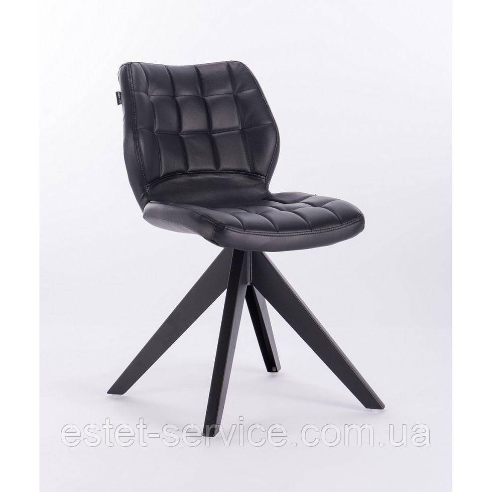 Кресло HROVE FORM HR445 черное экокожа на 4-х ножках