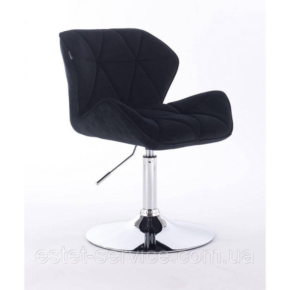 Кресло косметическое HR111N черный велюр