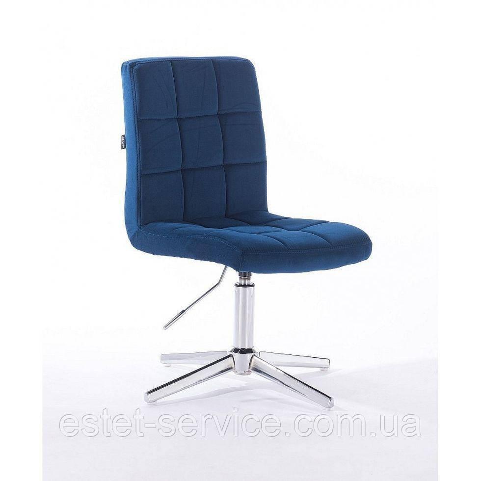 Кресло мастера HROVE FORM HR7009CROSS на хром стопках в ЦВЕТАХ велюр