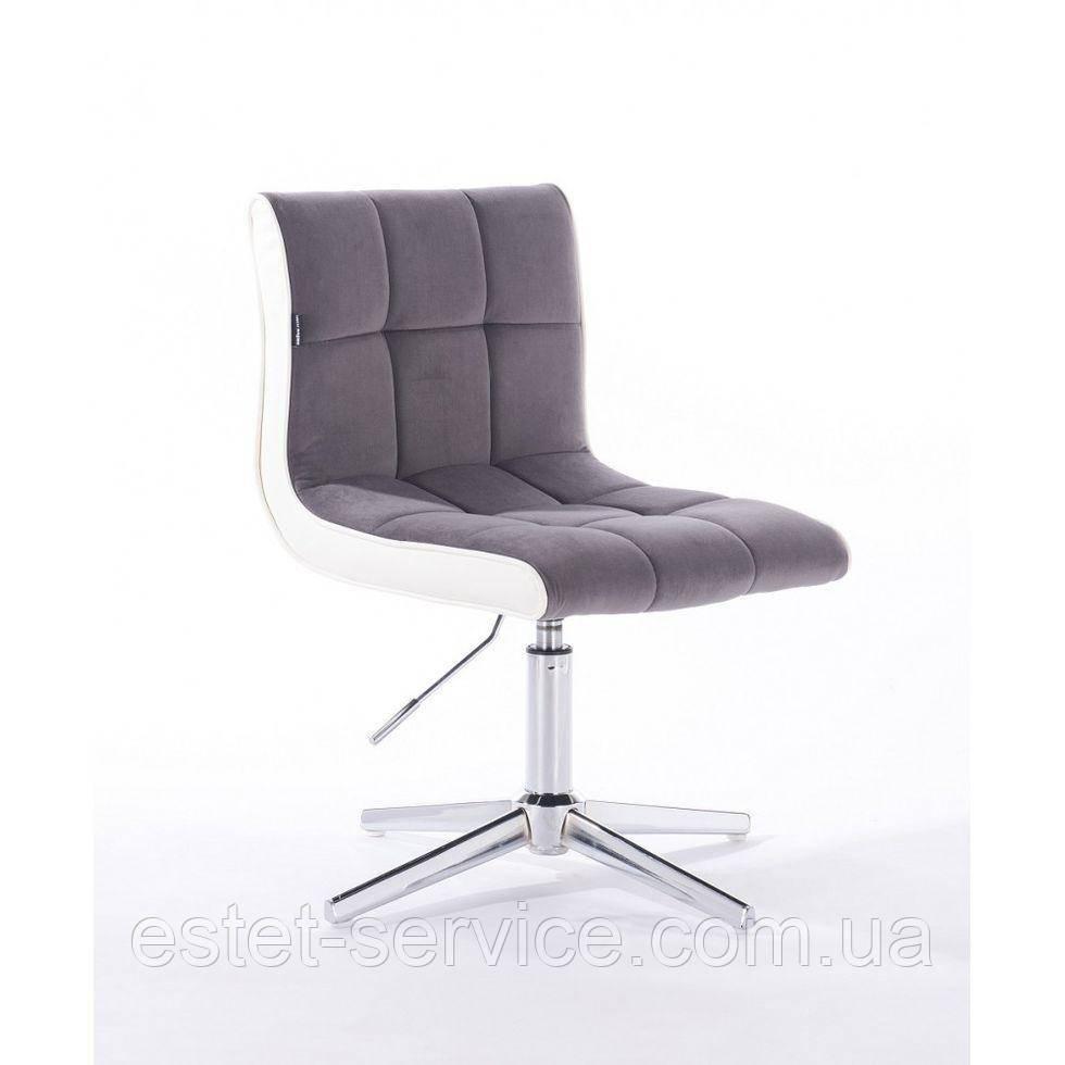 Парикмахерское  кресло HROVE FORM HR810CROSS графитовый велюр