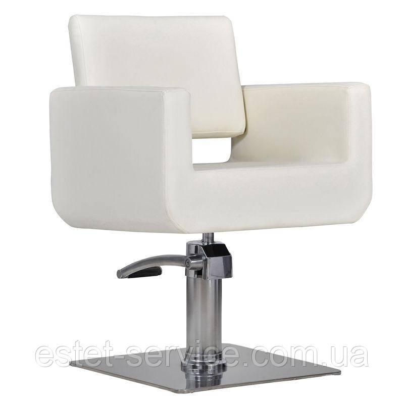 Парикмахерское кресло Bell белое