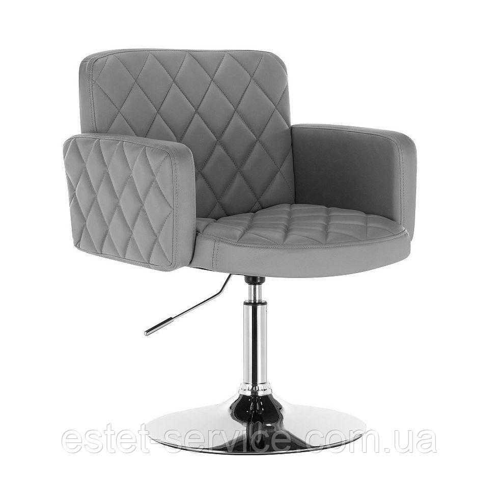 Парикмахерское кресло HC8020 серое