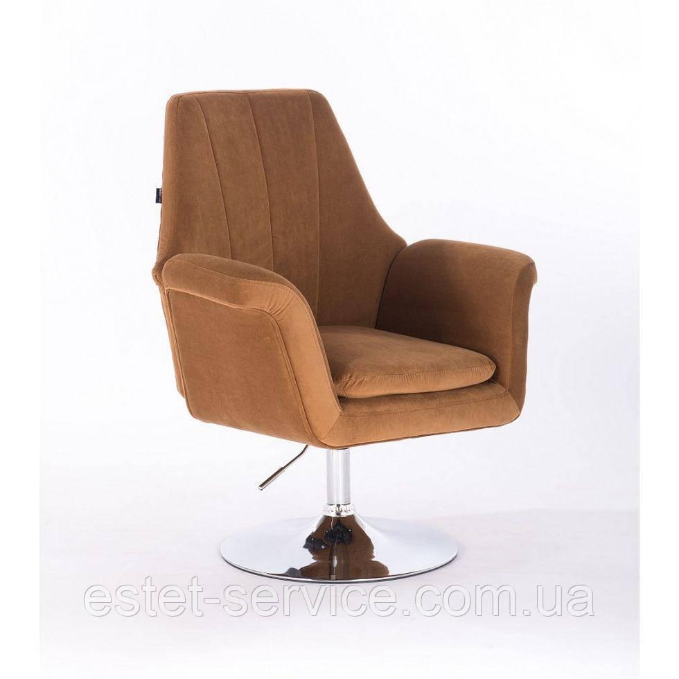 Парикмахерское кресло HROVE FORM HR660 медовый велюр