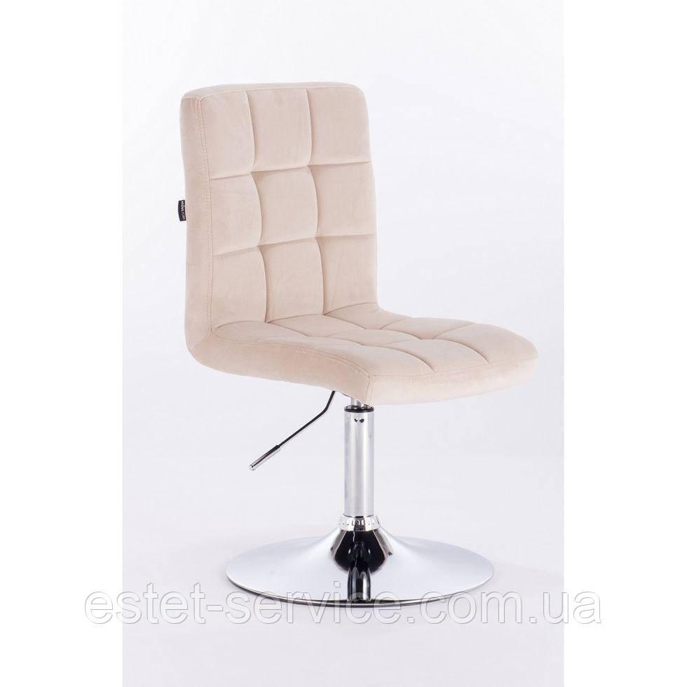 Кресло на диске HROVE FORM HR7009N хром основа в ЦВЕТАХ велюр