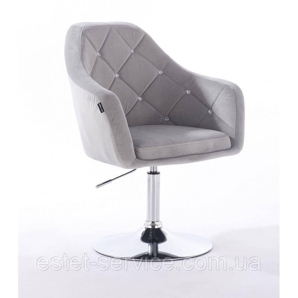 Парикмахерское кресло HROVE FORM HR830 стальной велюр