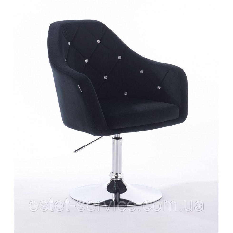 Парикмахерское кресло HROVE FORM HR830 черный велюр