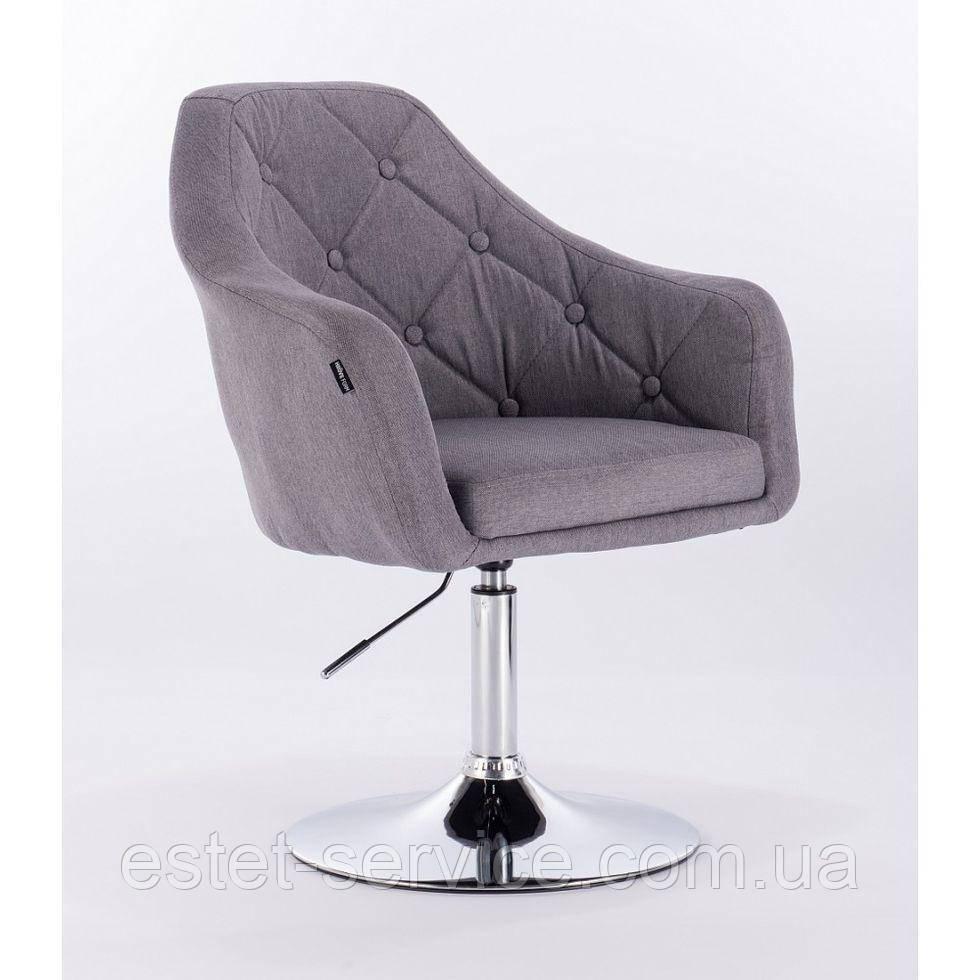 Парикмахерское кресло HROVE FORM HR831 серое ткань