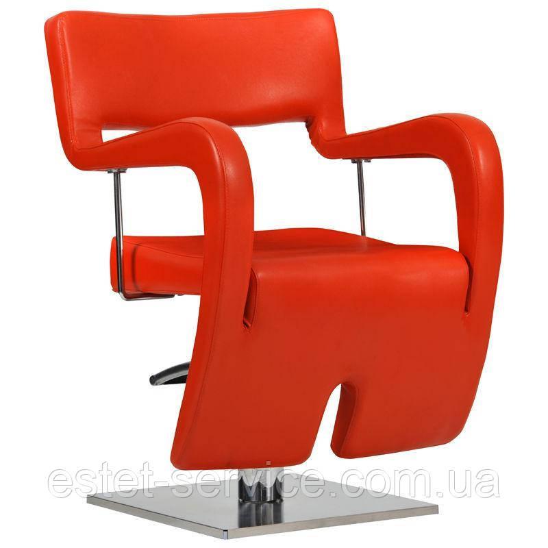 Парикмахерское кресло Neapol красное