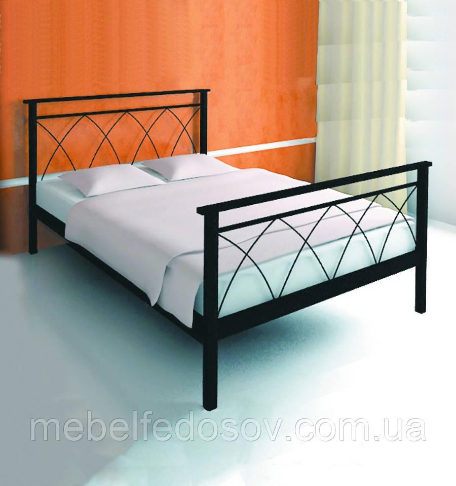 Кровать металлическая  Диана - 1 / Diana - 1  двуспальная 180 (Метакам) 1850х2080х940 мм