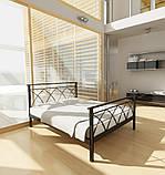 Кровать металлическая  Диана - 1 / Diana - 1  двуспальная 180 (Метакам) 1850х2080х940 мм, фото 2