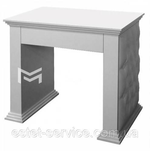 Стол маникюрный потолщеный, фасады стола с каретной стяжкой М128