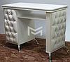 Стол маникюрный белый, фасады стола с каретной стяжкой М132, фото 2