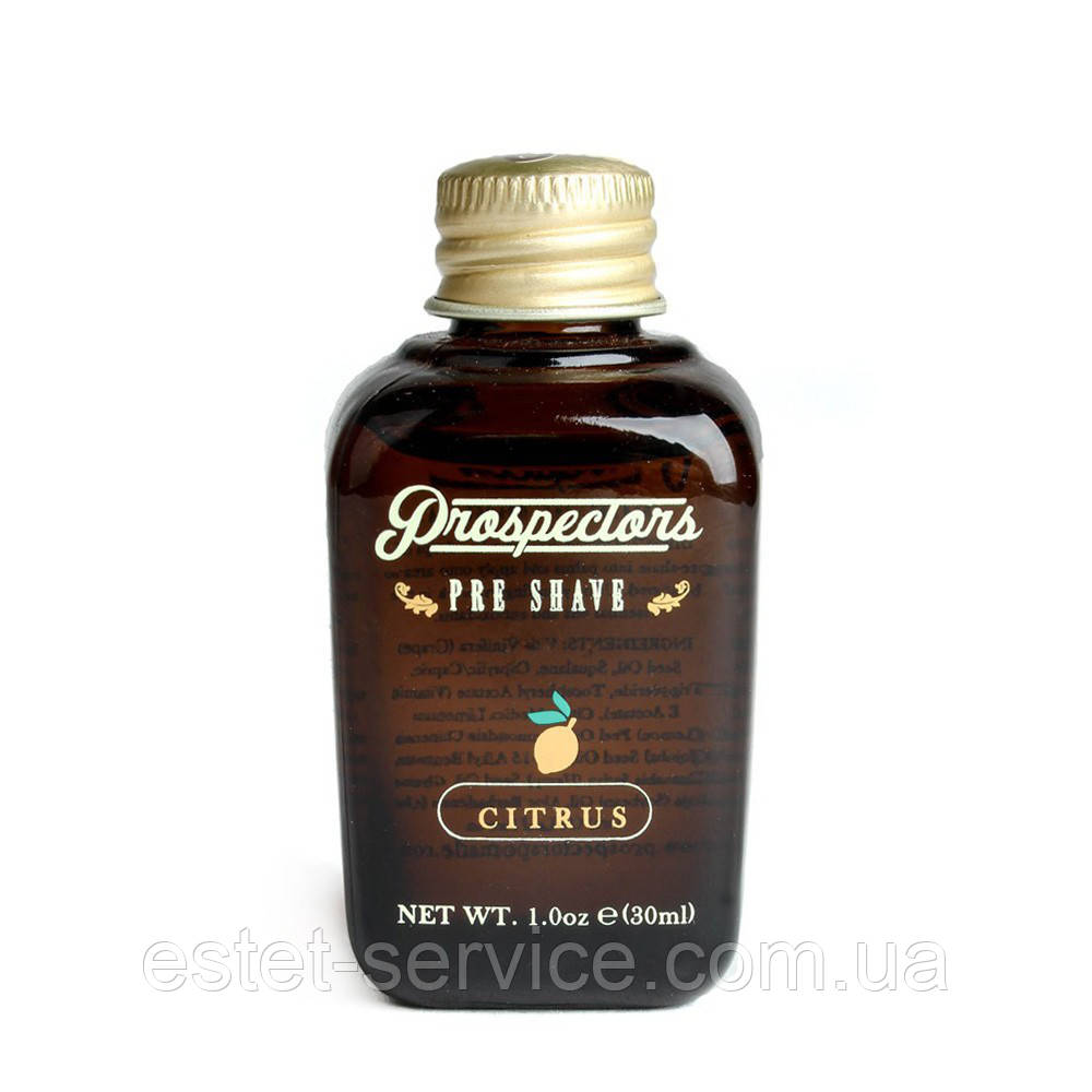 Масло для бритья Prospectors Citrus pre-shave Oil