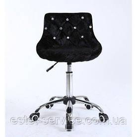 Кресло косметолога HC931K на колесах в ЦВЕТАХ велюр стразы
