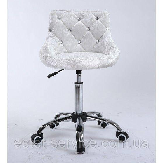 Косметическое кресло HC931K серебросто-белый велюр