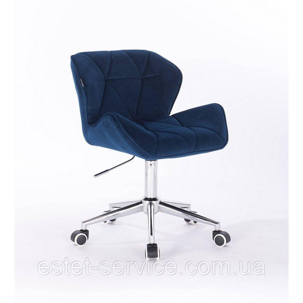 Косметическое кресло HR111K синий велюр