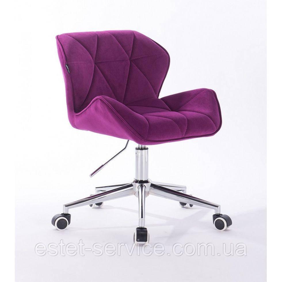 Косметическое кресло HR111K фуксия велюр