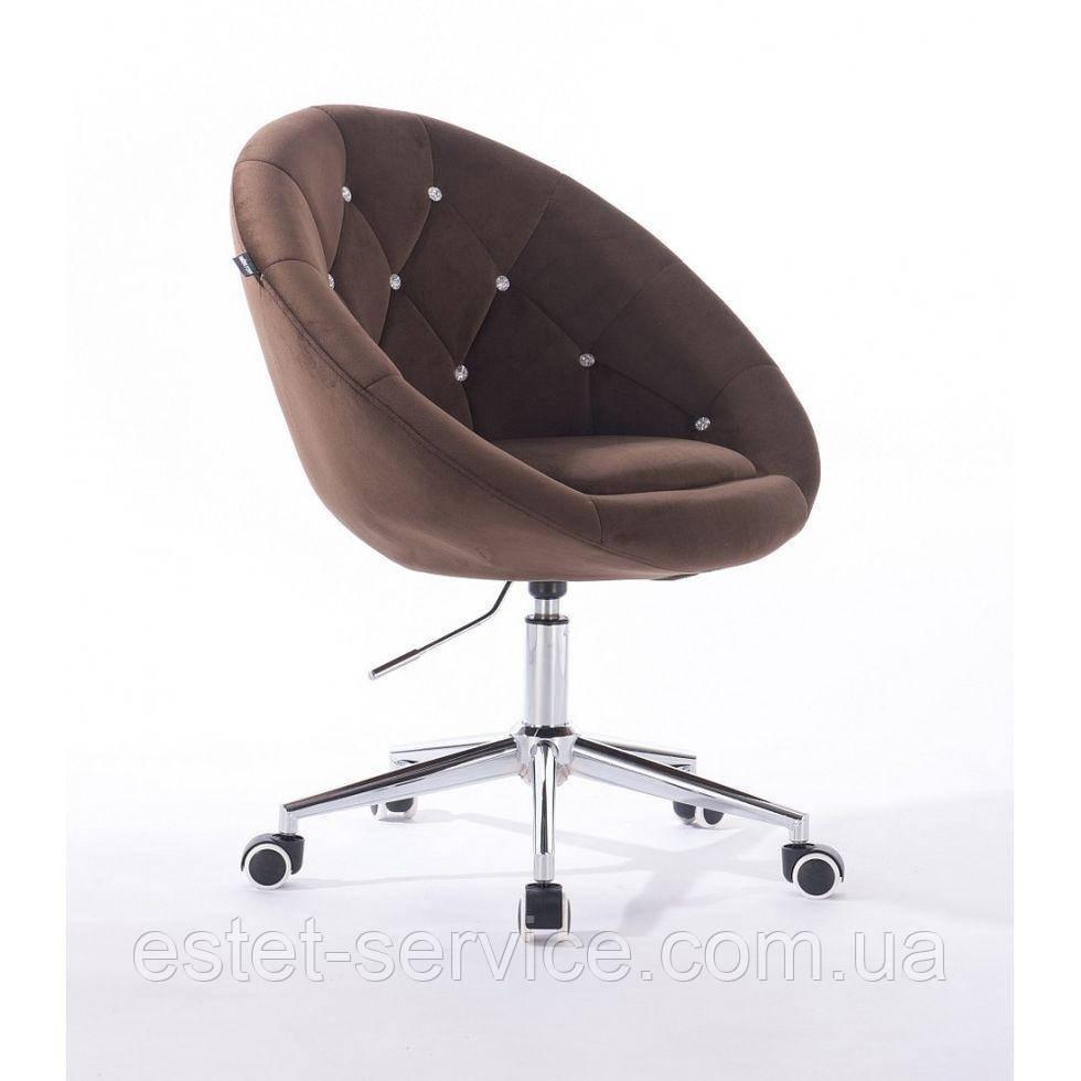 Косметическое кресло HR8516K  шоколадный велюр