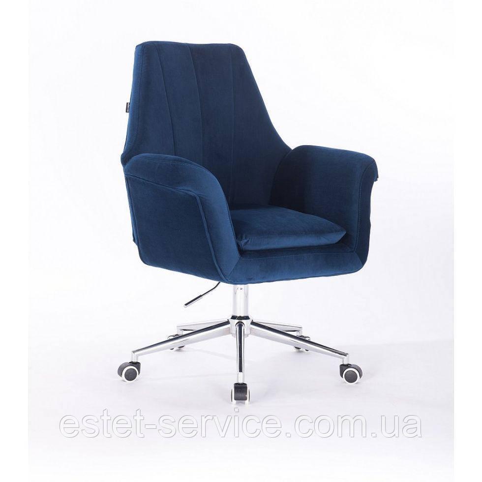 Косметическое кресло HROOVE FORM HR660K синий велюр