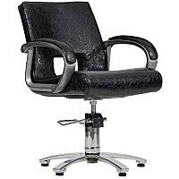 Парикмахерское кресло Milano черный крокодил