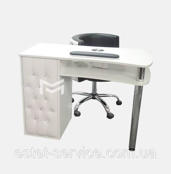 Профессиональный маникюрный стол, фасады с каретной стяжкой М129