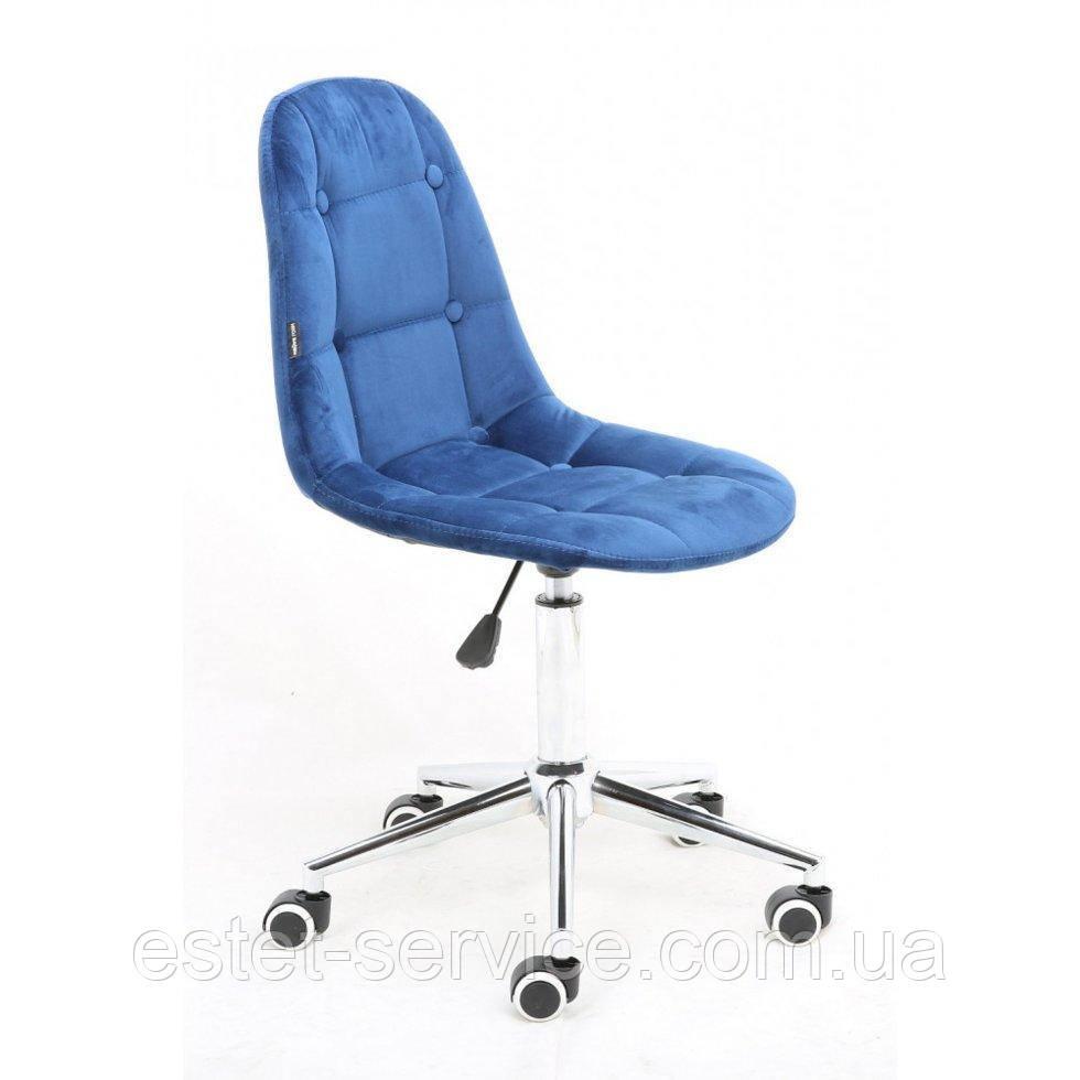 Косметическое кресло HR1801K синий велюр