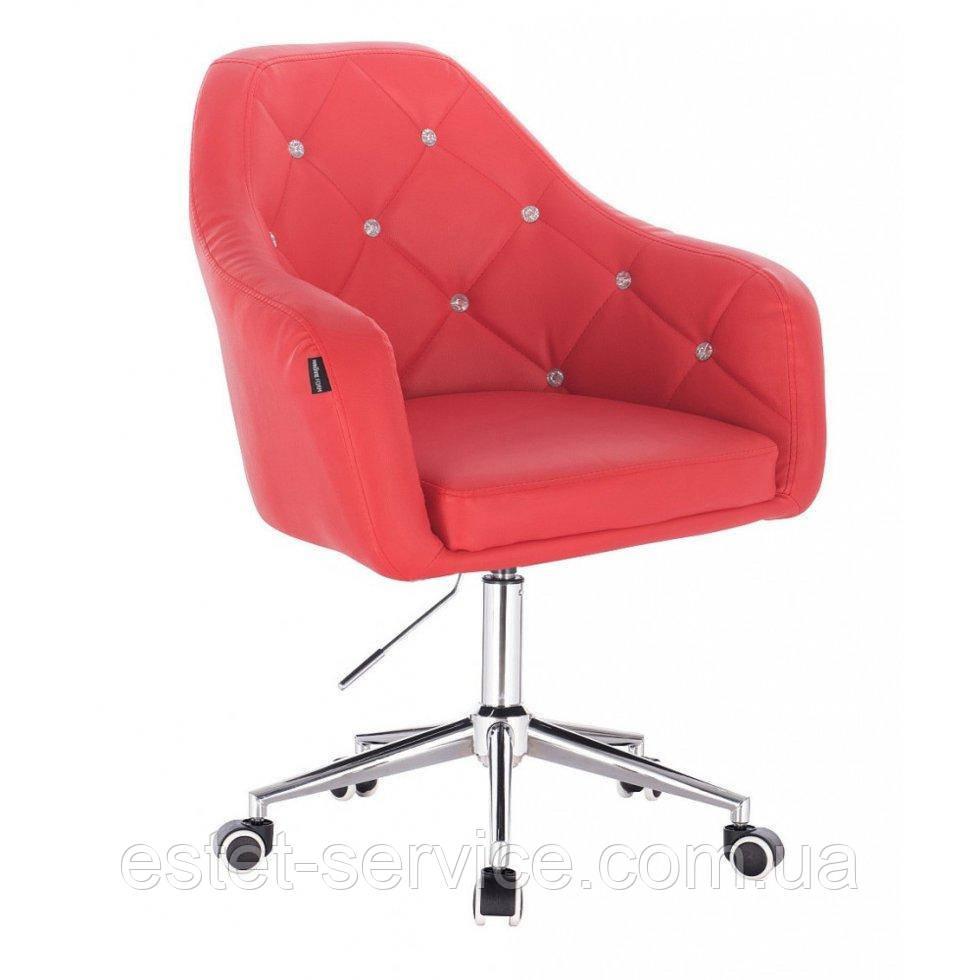 Косметическое кресло HROOVE FORM HR830K красный кожзам крестовина хром