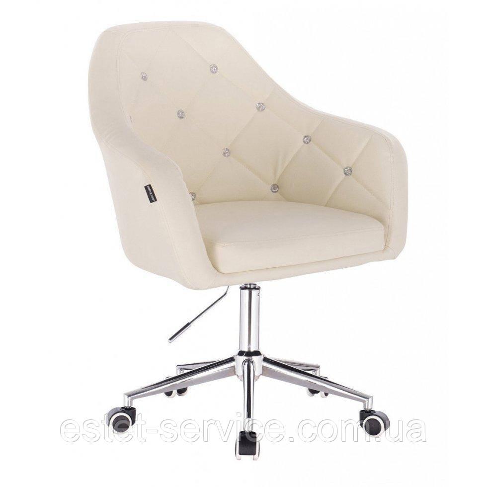 Косметическое кресло HROOVE FORM HR830K кремовый кожзам крестовина хром