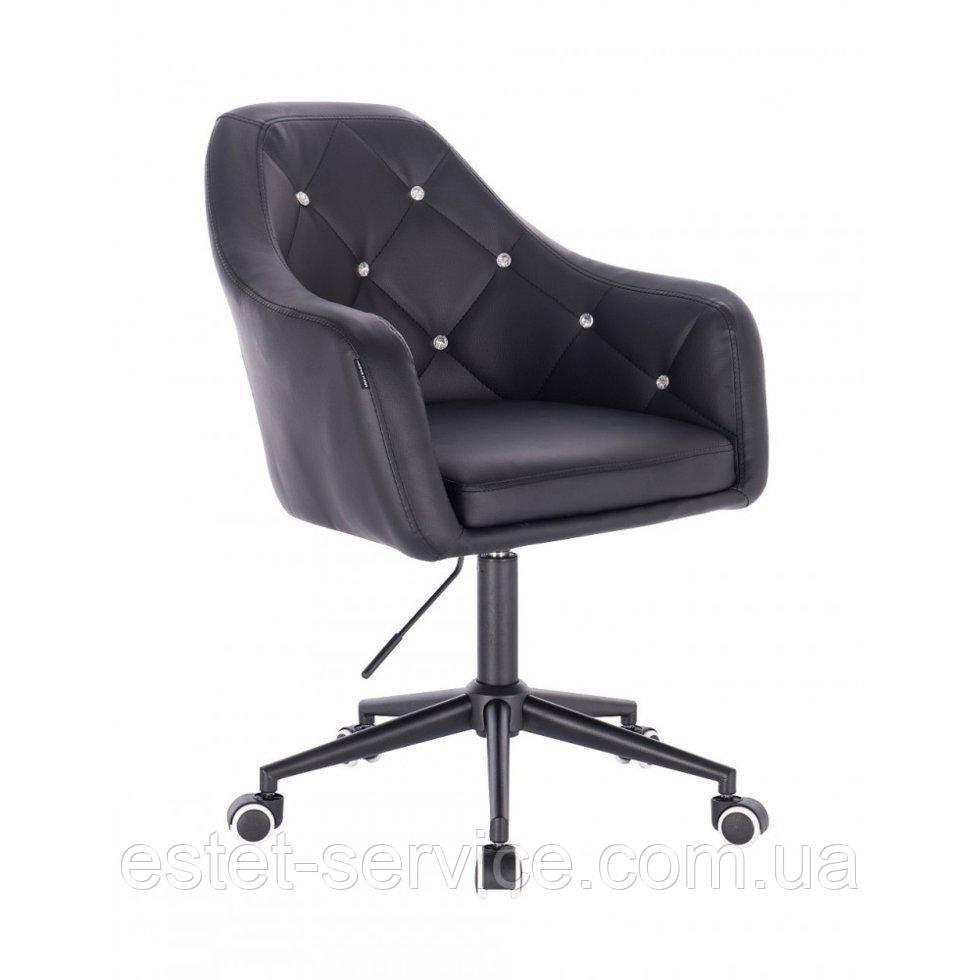 Косметическое кресло HROOVE FORM HR830K черный кожзам крестовина черная матовая