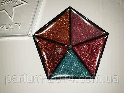 Тени для век Huda Beauty Glitter Classic (реплика), фото 2