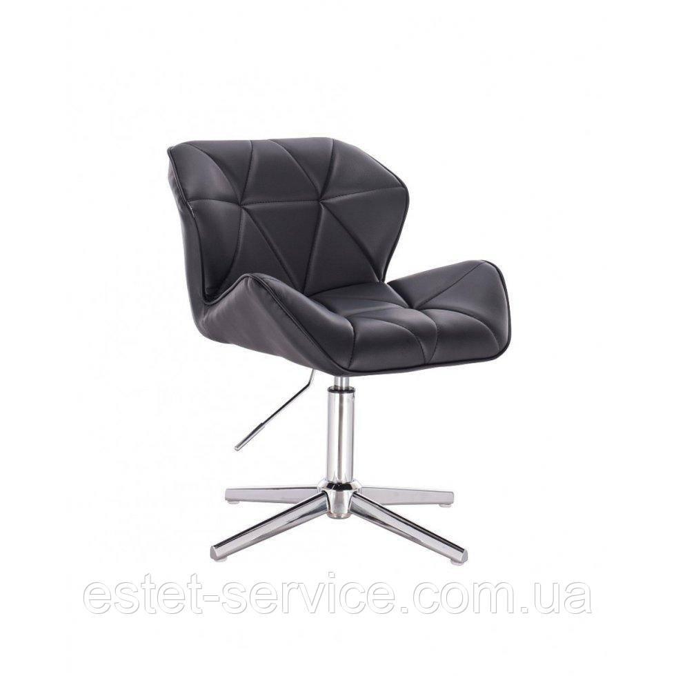 Парикмахерское  кресло HROVE FORM HR111CROSS черный кожзам
